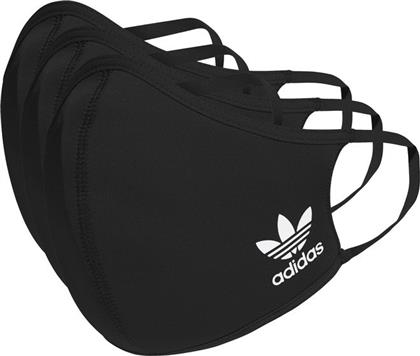 Adidas Face Covers M/L Black / White 3τμχ