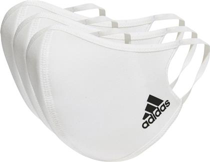 Adidas Face Covers M/L White 3τμχ