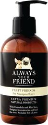 Always Your Friend Fruit Friends Pet Shampoo 2 in 1 250ml