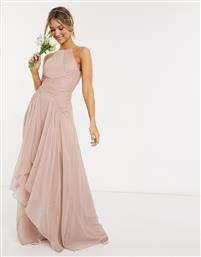 ASOS DESIGN Bridesmaid pinny maxi dress with ruched bodice and layered skirt detail-Multi