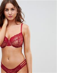 ASOS FULLER BUST Ria Basic Lace Mix & Match Underwire Bra 30DD-38HH-Red από το Asos