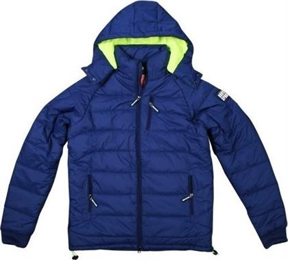 Body Action Winter Fleece Lined Jacket 073516-Blue από το ProteinStar