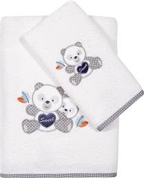 Das Home Σετ Πετσέτες Baby Smile Embroidery 6574 White 2τμχ