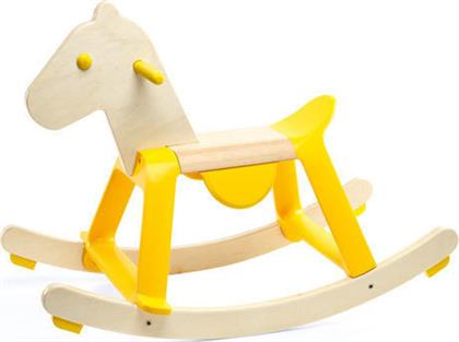 Djeco Wooden Swing Horse Yellow