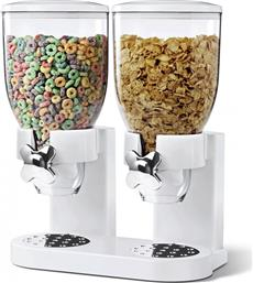 Double Cereal Dispenser White
