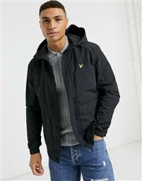 Lyle & Scott hooded pocket jacket in black από το Asos