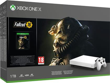 Microsoft Xbox One X 1TB Robot White Special Edition Fallout 76 από το Public