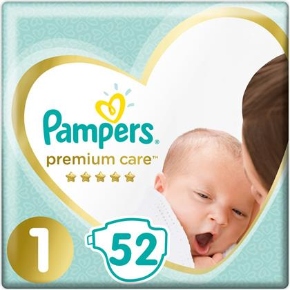 Pampers Premium Care Νo 1 (2-5kg) 52τμχ