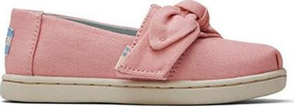 Toms Pink Plant Dye with Bow Toddler Classics 10015171 Ροζ